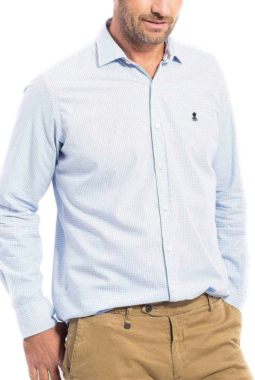 EL PULPO Camisa Vichy Celeste Hombre XL Azul: Amazon.es: Ropa ...