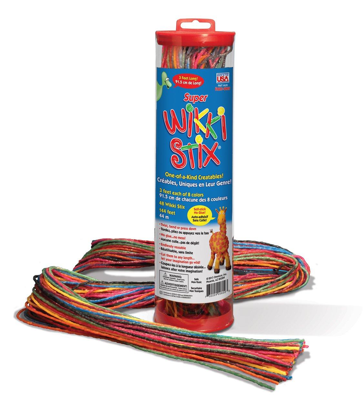 Super Wikki Stix - 3 feet long - Molding & Sculpting Sticks (English & French Bilingual Packaging)
