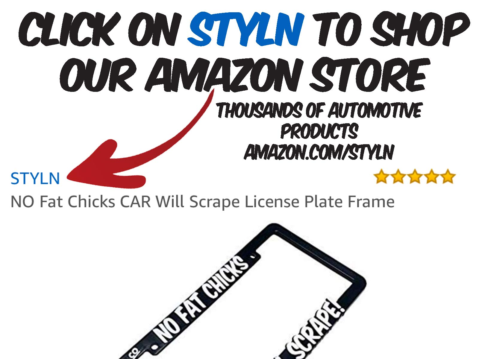 Amazon com: STYLN: 3D License Plate Frames
