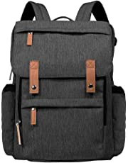 Hap Tim Diaper Bag Backpack Muilti-Function Waterproof Large Capacity Travel Diaper Backpack for Baby Care with Stroller Straps,Insulated Pockets(K1004CA-DG) (Dark Gray)