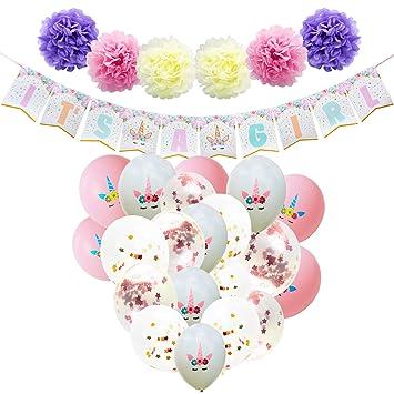 Amazon Com Wernnsai Baby Shower Decorations For Girl Unicorn
