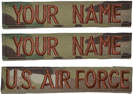 Custom 1 Piece USAF OCP//Scorpion Name Tape with Hook Fastener