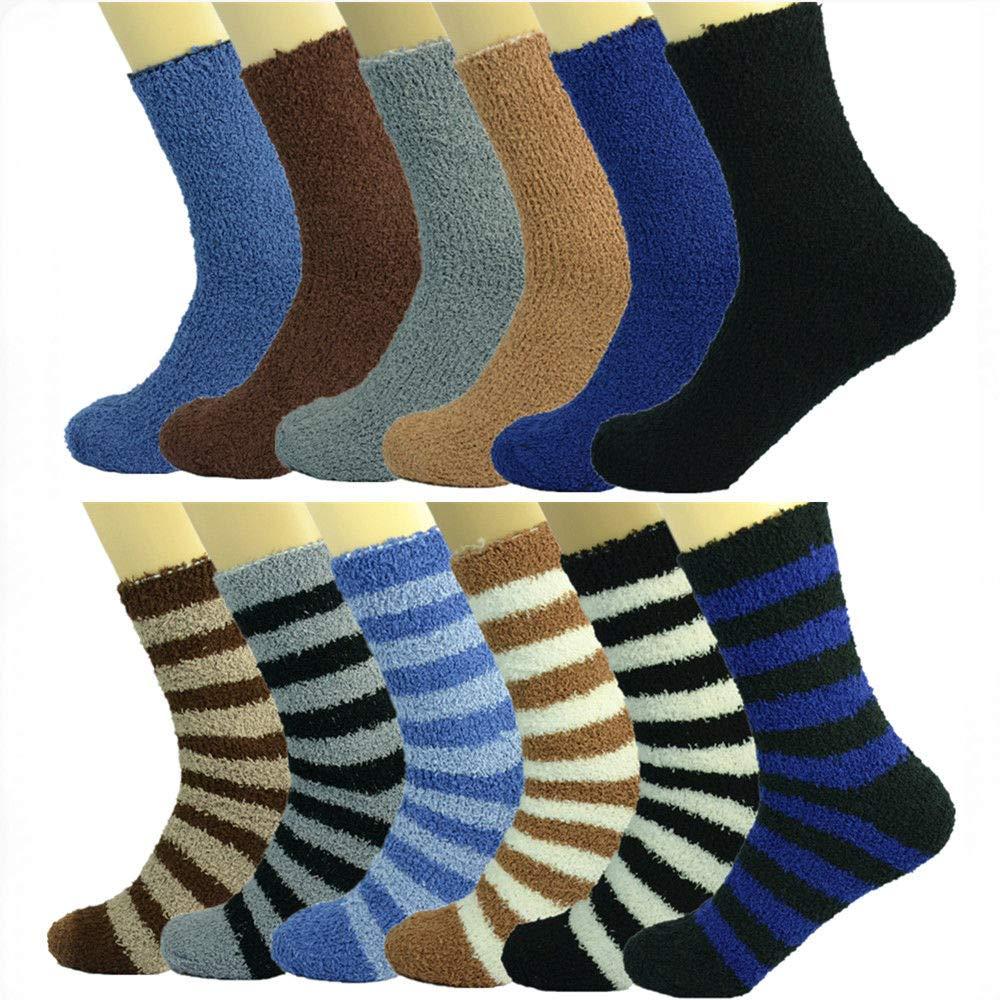 3-10 Pairs For Women/'s Soft Cozy Fuzzy Crew Star Socks Winter Warm Slipper