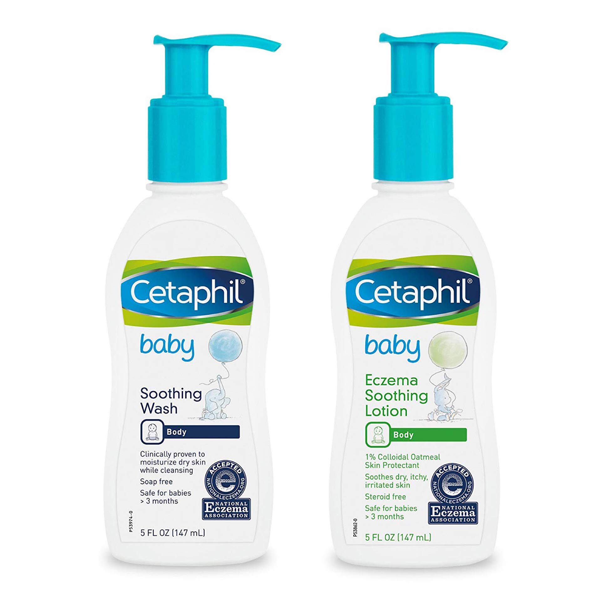 Cetaphil Baby Soothing Wash & Eczema Soothing Lotion, 5 Fluid Ounce by Cetaphil