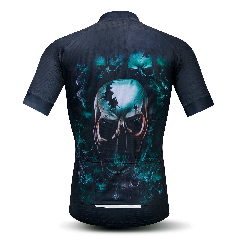 Amazon.com  Weimomonkey Mens Cycling Jersey Short Sleeve T Shirt Cycling  Top Breathable Bike Biking Shirts Skull Blue M  Clothing 31f967378
