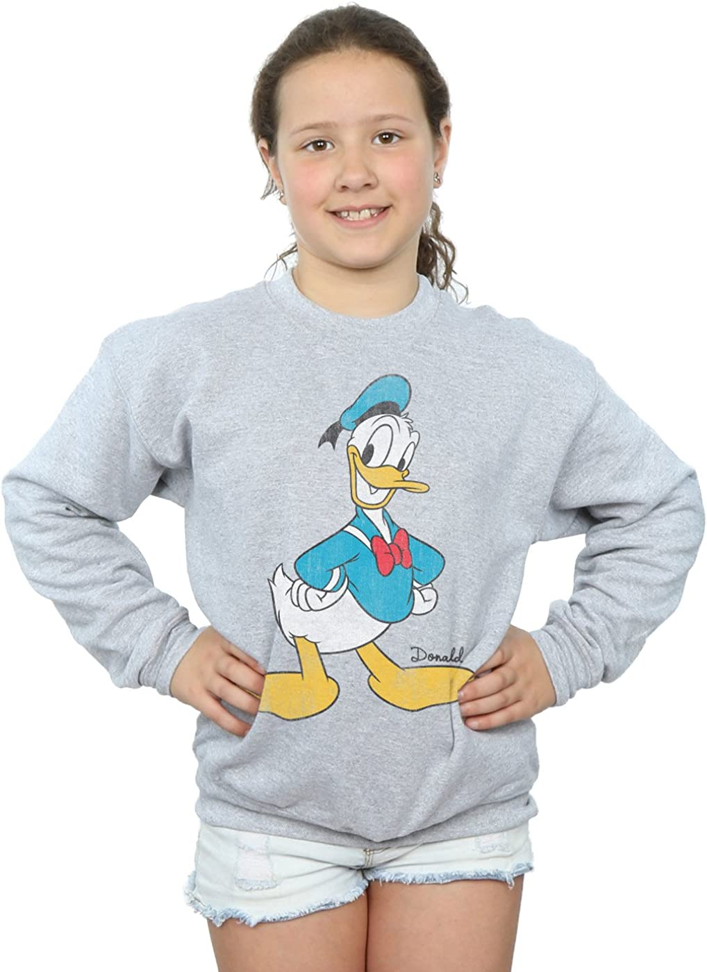 Disney Girls Mickey Mouse Classic Donald Duck Sweatshirt