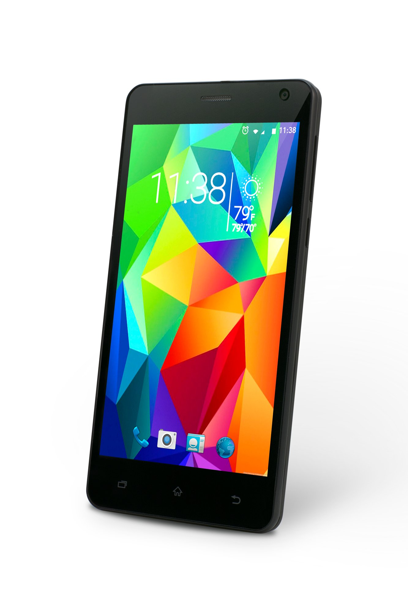 SLIDE Dual SIM 5'' Android 6.0 Unlocked Smartphone, Quad Core 1.3GHz Processor, 8GB Internal Storage, 1GB RAM, 8MP Camera, Nationwide 3G GSM Coverage- Black (SP5023)
