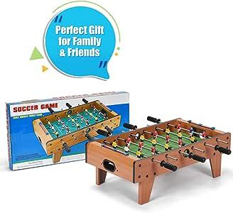 Juego de mesa de futbolín Costway, para niños de 70 cm, marco de madera, para jugar en familia: Amazon.es: Deportes y aire libre