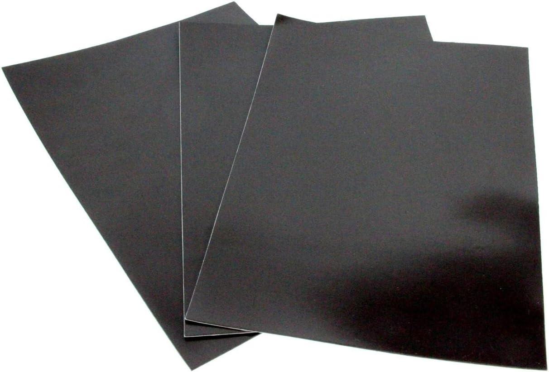 ZADAWERK® Lámina magnética - 1,2 mm - DIN A 4-3 Piezas - autoadhesiva