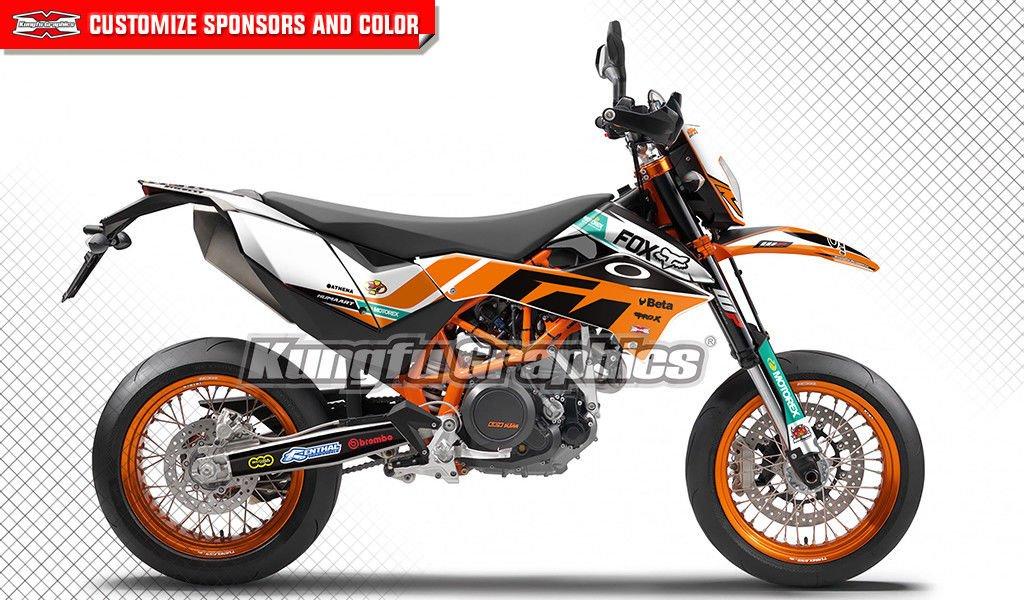 KUNGFU GRAPHICS(カンフー グラフィックス) FOX デカールキット(オレンジ)KTM 690 Enduro R 2012 2013 2014 2015 2016 2017専用 B07D525GTZ 690 Enduro R 2012-2017 style 007 style 007 690 Enduro R 20122017