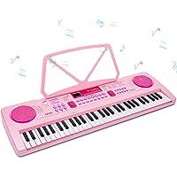 RenFox Teclado Electrónico Piano 61 Teclas, Keyboard Piano Portátil USB Piano Digital con Micrófono, Musical Digital…
