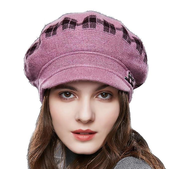 URSFUR Boina de lana clásico de pintor francés retro de131f4bb98
