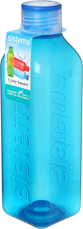 Sistema – Botella Cuadrada Retro, plástico, 1 litro