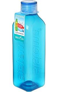 Sistema – Botella Cuadrada Retro, plástico, Varios Colores, 1 litro