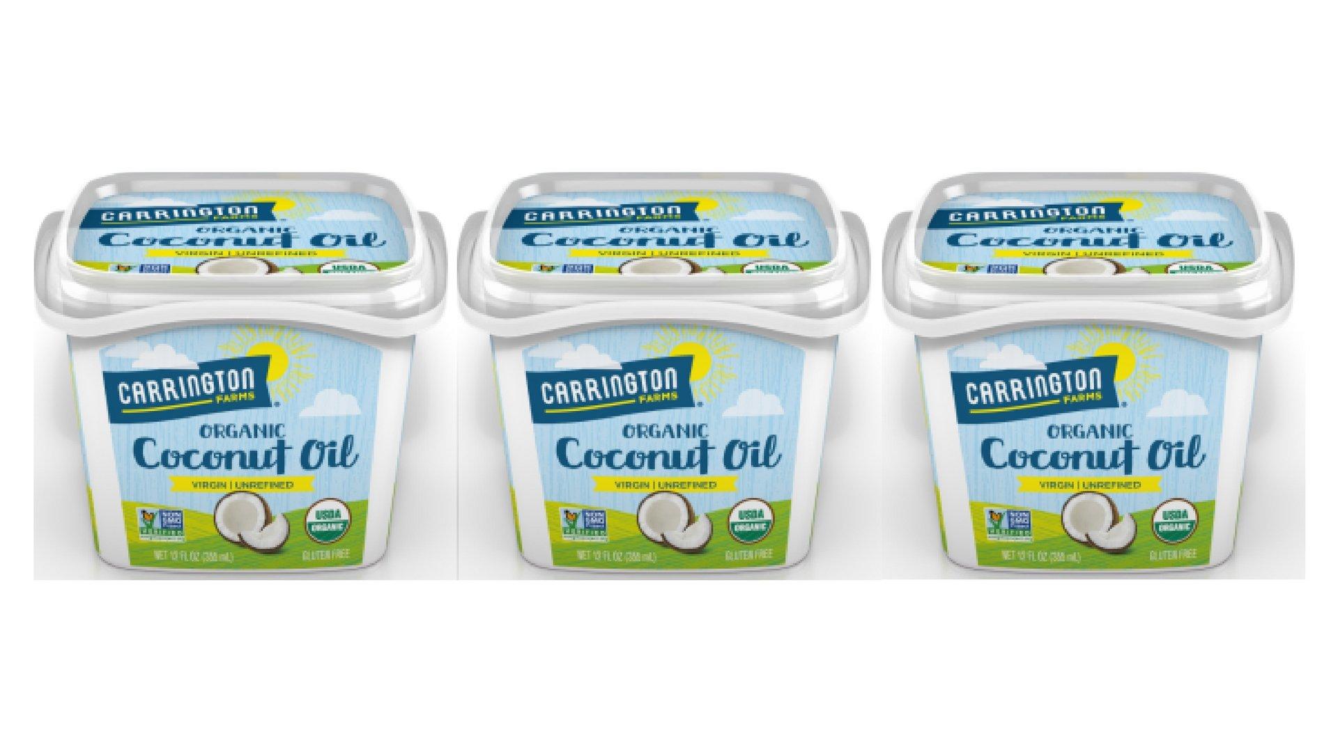 Carrington Farms 100% Organic Virgin Coconut Oil, 12 oz (3)