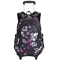 Coofit Cartable à roulettes Cartable Fille à roulettes Sac à Dos à roulettes Fille Enfant Primaire Cartable College Trolley Fille Sac Dos Ecole Fille