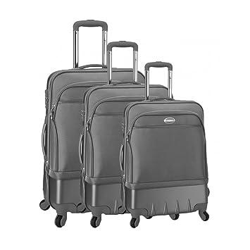 Juego de 3 maletas Carrito de 4 ruedas de Lisboa Gris gris talla única