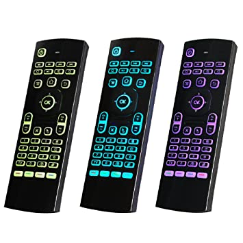 Festnight Air Mouse, 2.4GHz Wireless Keyboard IR Learning Control Remoto Sensor de Movimiento de