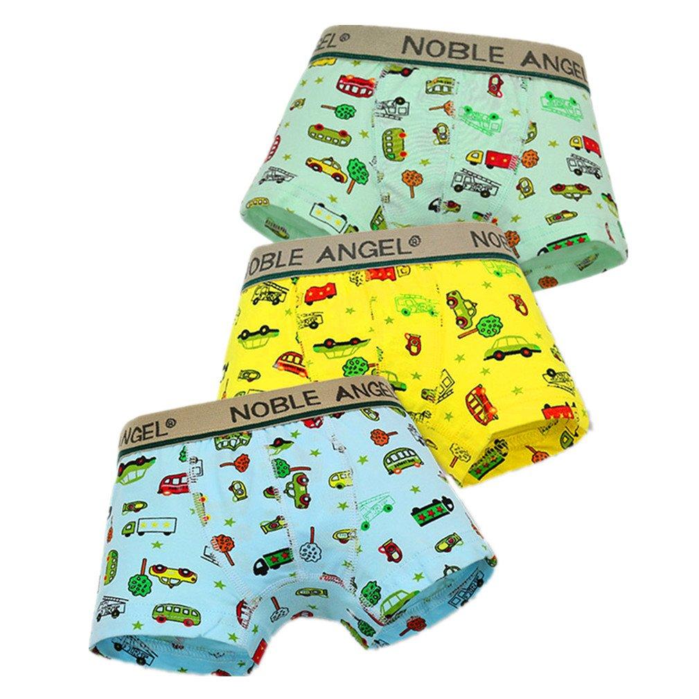Litter Boy's Cars Boxer Briefs Cotton Short Underwear Pack of 3 Yzjcafriz