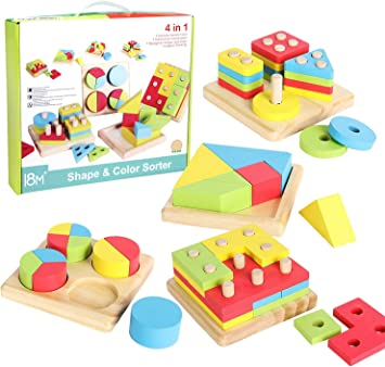 Stack & Learn Geometric Shape Puzzle
