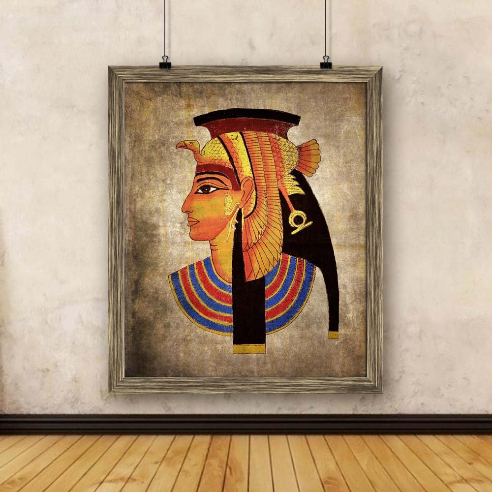 Artzfolio Old Egyptian Pharaoh Canvas Painting Antique Gold