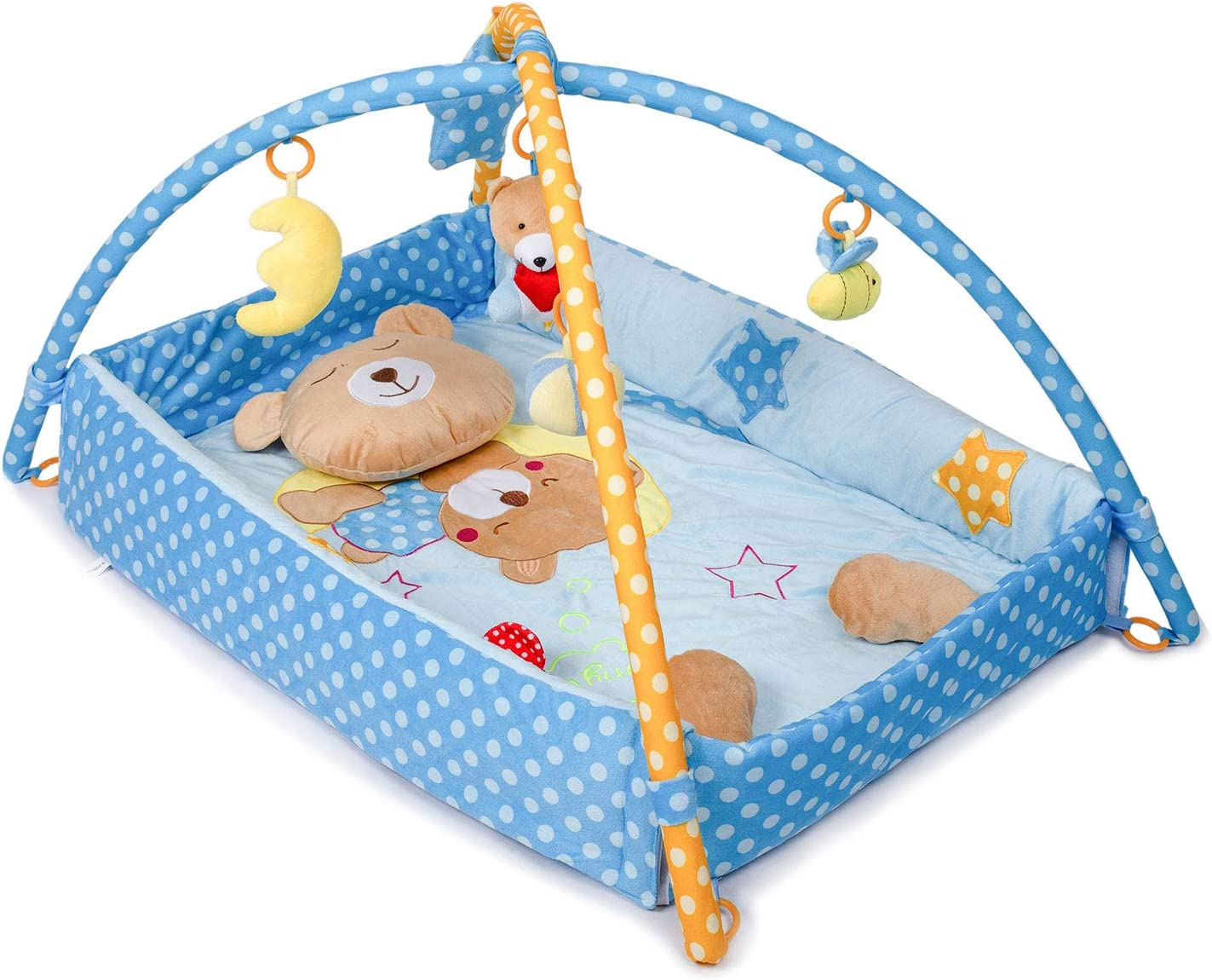 Kinbor Baby Super Deluxe Tummy Time Play Mat and Activity Gym