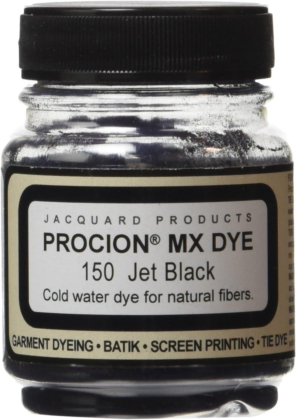 Jacquard Procion MX Fiber Reactive Dye 2 3rd ounce Jar (Jet Black)