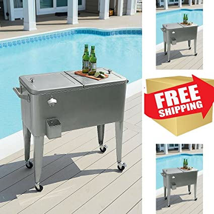 patio cooler cartstainless steel cooler on wheelsgarden patio cooleroutdoor cooler - Patio Coolers