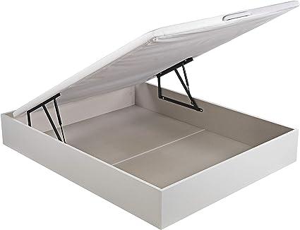 ROYAL SLEEP Canapé Abatible (135x190) de Gran Capacidad, Tapa 3D Transpirable, Color Blanco Montaje y Retirada de Usado Incluido