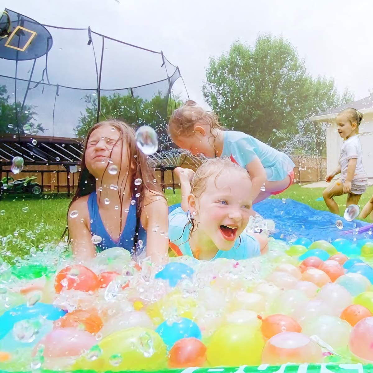 Vimzone Water Balloons 1000pcs Self Sealing Easy /& Fast Filling Water Bombs Multicoloured Bunch Balloons with 4 Fillers /& 1000 Rubber Bands Summer Splash Fun Water Fight Game for Kids /& Adults