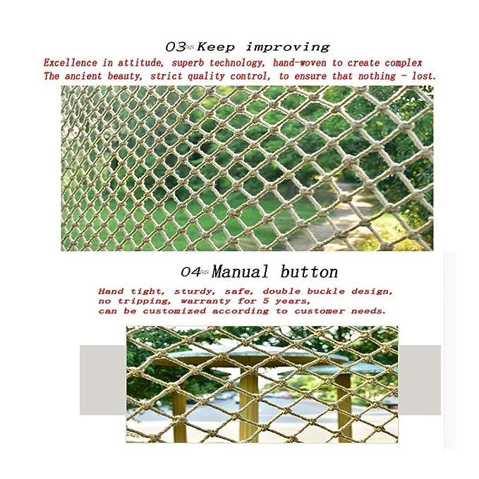 Size : 1x1m HWJ Kindertreppe Sicherheitsnetz Schutznetz Kinderfallschutznetz Kindergartendekorationsnetz Anti-Katzennetz Gel/ändernetz Hanfseilnetz