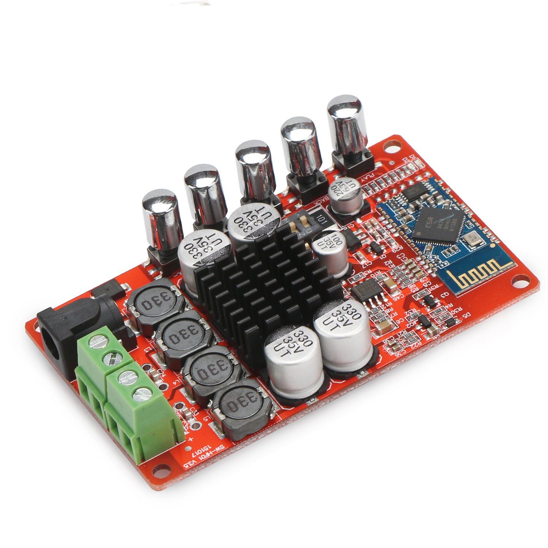 Drok Bluetooth 40 Stereo Amplifier 25w2 Digital 25w Hifi Audio With Mosfet Signal Dual Output Car Tda7492p Chip Dc 8 20v Input Voltage