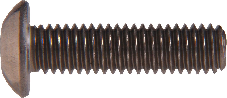 100-Pack The Hillman Group 334033 8-32 x 3//4-Inch Button Head Cap Screw