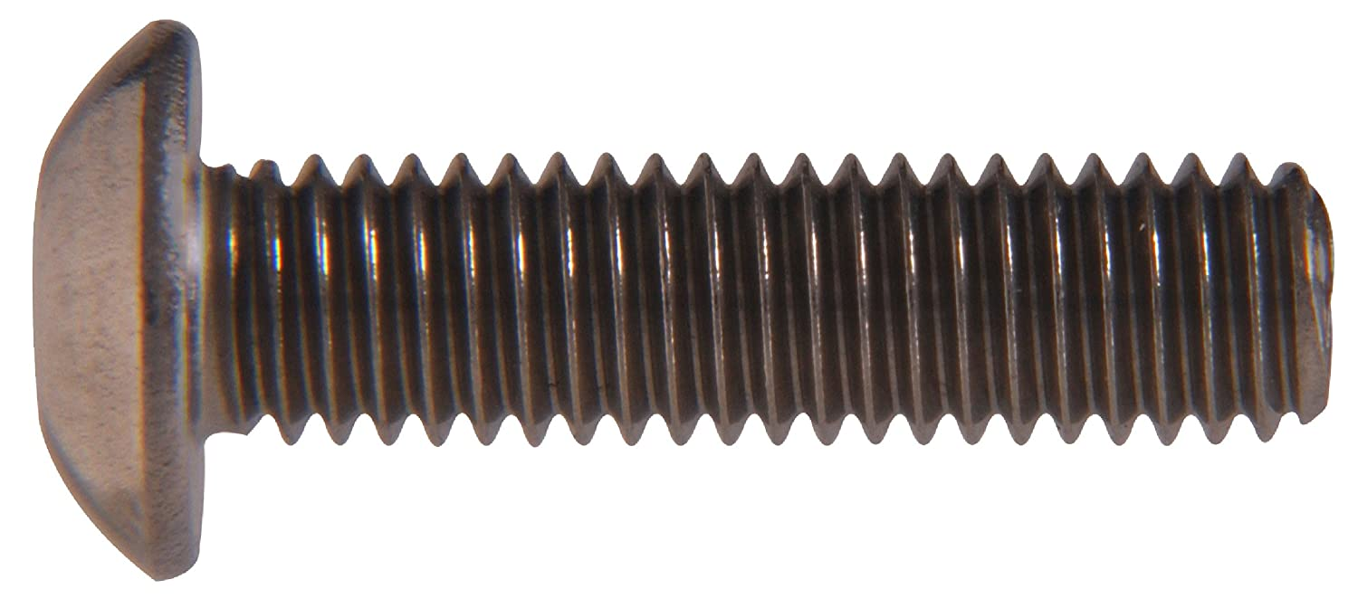 20-Pack The Hillman Group 45074 1//4-28 x 5//8-Inch Button Head Socket Cap Screw