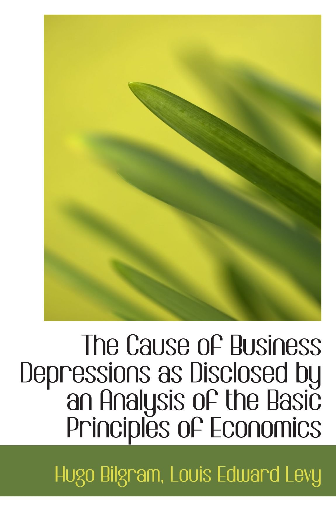 The Cause of Business Depressions as Disclosed by an Analysis of the Basic Principles of Economics pdf