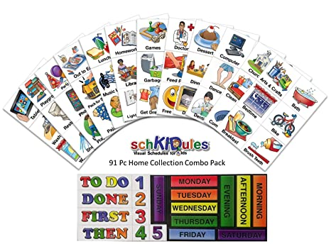 SchKIDules 3 Pc Home Bundle Daily and Weekly Magnetic Visual