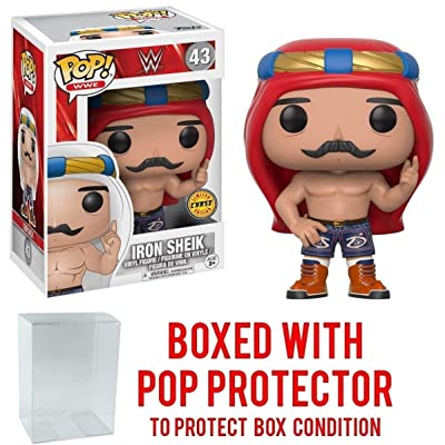 Funko Pop! WWE Iron Sheik Old School CHASE VARIANT Vinyl Figure (Bundled with Pop BOX PROTECTOR CASE): Toys & Games