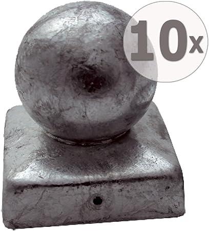 Holzpfosten Kappe rund 9 x 9 cm in Kugel Form aus Edelstahl Pfostenkappen