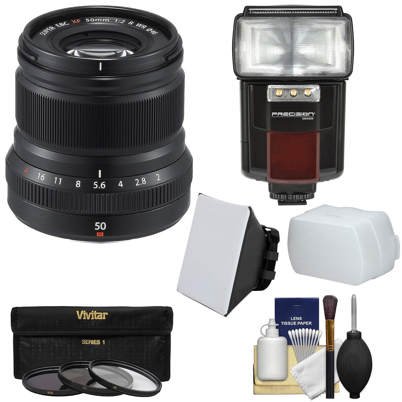 Fujifilm 50 mm f / 2.0 XF R WRレンズ(ブラック) with 3 UV/CPL / nd8フィルタ+フラッシュ+ソフトボックス+ディフューザー+キット   B01MUSQE3D