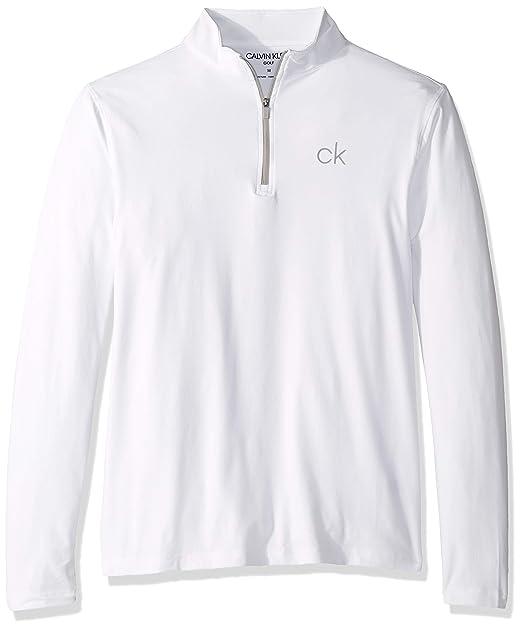 Calvin Klein Hombre C9355 Manga Larga Camisa de Golf: Amazon.es ...