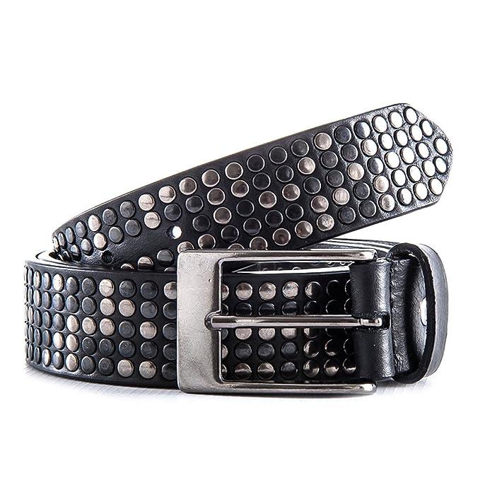 più recente 6c78c 0de94 Passione Cintura uomo nera in vera pelle con borchie canna fucile Bags -  Made in Italy