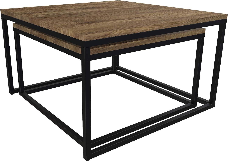 De Goedkoopste NOVAMAT 2in1 salontafel ADDI in loft stijl tafel woonkamertafel van hout Elagant Design Edel licht eiken eiken donker n5nES5r