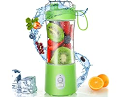 Portable Blender - Personal Size Blender Smoothies and Shakes USB Rechargeable Juicer Cup with 6 Powerful Blades Handheld Fru