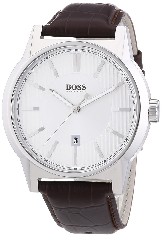 Hugo Boss Herren-Armbanduhr ARCHITECTURE ROUND Analog Quarz Leder 1512912