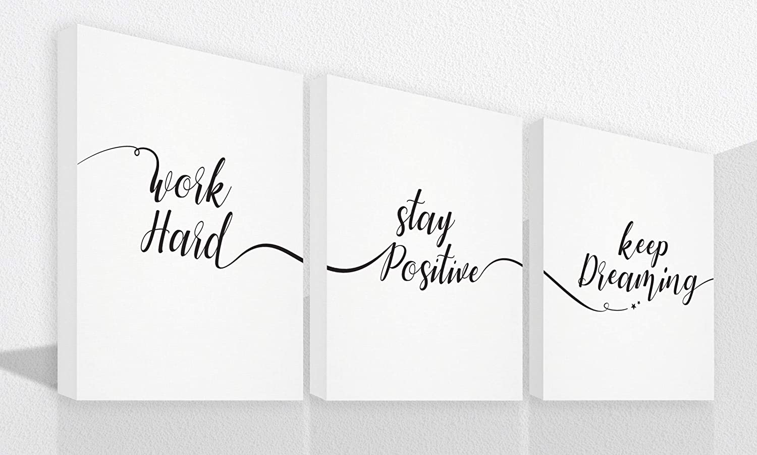 "8""X10"" FRAMES INCLUDED Inspirational wall art Canvas art wall decor office wall decor office decor for women motivational wall art Home office decor canvas wall art bedroom wall art office wall art wall art for bathrooms bedroom decor for women inspirational quotes Size 8 X 10"
