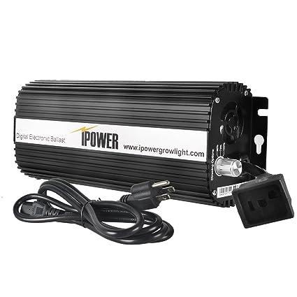 amazon com : ipower 1000 watt digital dimmable electronic ballast for hps mh  grow light : plant growing ballast assemblies : garden & outdoor