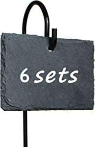 6 Sets Slate Plant Labels Signs Markers, 2.8