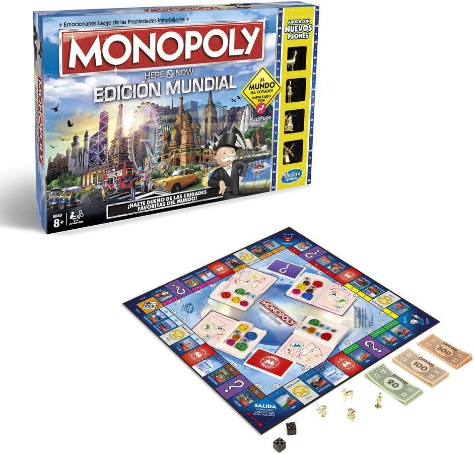 Monopoly, edición Mundial, Multicolor (Hasbro B2348546): Amazon.es ...