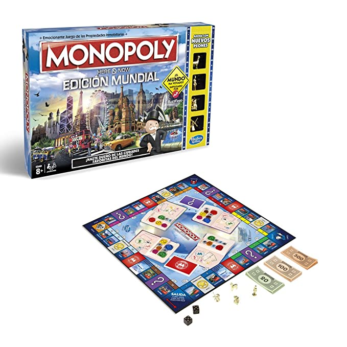 Monopoly- edición Mundial, (Hasbro B2348546)