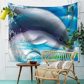 Ocean World Impreso Tapicería Decoración Para El Hogar ...